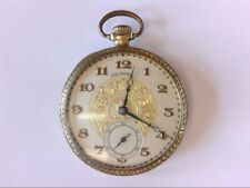 BEAUTIFUL Antique 1919 Illinois 21 Jewel A. Lincoln 12S Pocket Watch.FANCY DIAL!