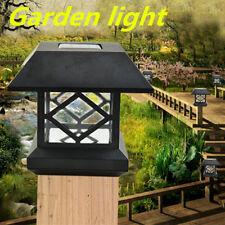 Outdoor Solar Powered LED Post Deck Cap Square Garden Light Path Landscape