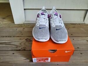 NIB Women's Nike Flex Trainer 9 Gray / Purple  Size 8.5