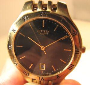 Citizen 5510 Quartz Date Watch with Stainless Steel Bracelet