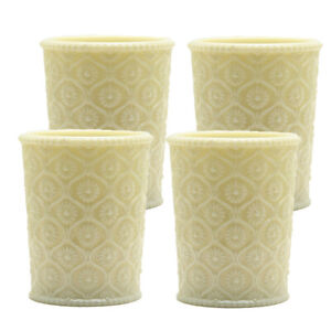 Cameo Collection Vintage Drinking Glass Tumbler 7.5 oz Yellow Jade, set of 4