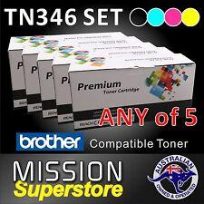 ANY 5x TN346 BCMY Toner Cartridge for Brother MFC-L8600CDW L8850CDW L9550CDW