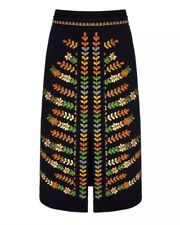 NWT Boden Icons Rita Skirt US Size 4 Navy Embroidered Flowers Floral
