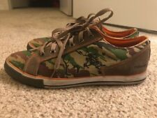 Maharishi BONSAI WOODLAND CAMO LEATHER & CANVAS DAY SHOE brown - men's US11