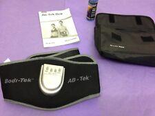 Bodi-Tek ABS Body Muscle Toner Weight Loss Tummy Men Black slimming Belt + gel