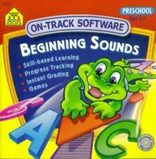 School Zone Preschool: Beginning Sounds PC MAC CD learn letters grading game!