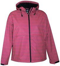 f8b14d77be New Pulse Womens Plus Size Soft Shell Hooded Jacket 1X 2X 3X 4X 5X Melon  Diamond