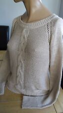 Inspire Collection Casual Beige Câble Tricot à Manches Longues Pull Taille S/M L @ @ K!!!