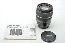 Canon EFs 17-85mm f4-5.6 IS STM EF-S USM Image Stabilization 17-85 Lens+MINT