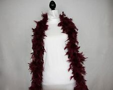 MAROON Feather Boas Chandelle 6 Feet 60 grams Elegant - Dress Up - Lowest Price