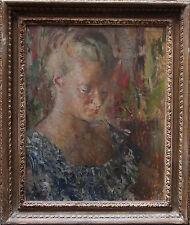 BERNARD FLEETWOOD WALKER 1893-1965 ROYAL ACADEMY ARTIST PORTRAIT OIL PAINTING