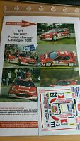 DECALS 1/43 REF 627 PEUGEOT 206 WRC PANIZZI RALLYE ESPAGNE CATALOGNE 2003 RALLY