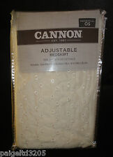 Cannon Adjustable Bedskirt, Eyelet, Ivory One Size Fits All