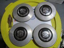 ✅ Seville Lug Chrome Wheel Center Cap hub cap Rim Silver Tire Cover Emblem Set 4