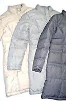 GARNET HILL Quilted GOOSE DOWN Winter COAT Beige Gray 10 12 14 Puffer M L