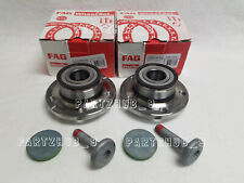 Pair Set of 2 Rear FAG Wheel Bearing and Hub Kit for Audi A3 Q3 TT VW Beetle CC