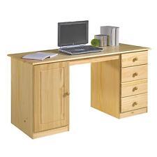 Bureau multi rangements tiroirs placard pin massif vernis naturel