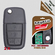 5BTN Flip Remote Key Fob 433MHz ID46 for Pontiac G8 2008-2009 FCC ID:0UC6000083