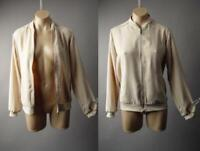 Sale Beige Basic Zipper Front Lightweight Track Bomber 223 mv Jacket S M L XL