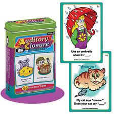 Auditory Closure Flash Cards Fun Deck Super Duper Speech Language Memory Skills
