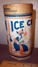 Vintage Ice Cream Container, great graphics, fun instructions on side on use