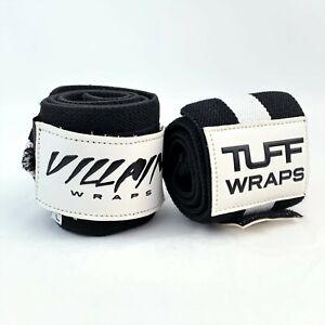 """24"""" Inches TuffWraps Villain Wrist Wraps - Black/White"""