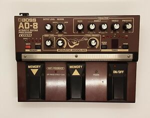 Boss AD-8 Acoustic Guitar Processor. Preamp, DI und Effekte