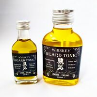 Whiskey Scented Beard Oil, Vegan, Conditioning Beard Tonic 20ml or 100ml