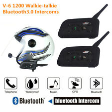 2 X 6 Riders 1200m Motorcycle Intercom Bluetooth Headset Helmet Communication