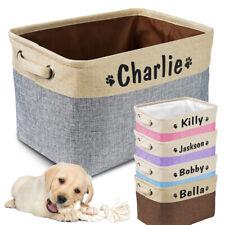 Dog Toy Box Storage Personalized Name Foldable Organizing Bin Basket With Handle