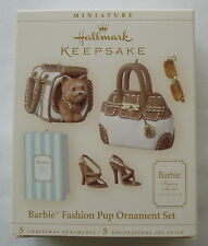 Hallmark 2006 Barbie Fashion Pup Puppy Set Acessories Christmas Ornament