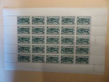 TIMBRE FRANCE ANNEE 1941 FEUILLE ENTIERE