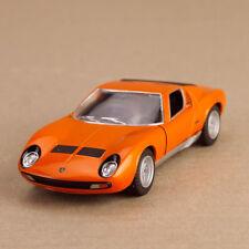1971 Lamborghini Miura 9700 sv Orange 1:34 Scale 12cm Die-Cast Pull-Back Model