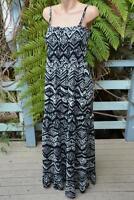 NEW Crossroads Geo Print MAXI DRESS Size 14. $49.95 Black & White. Shirred Back.