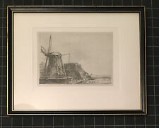 MINT! REMBRANDT 1641 Etching Lithograph - The Windmill B., Holl. 233; H. 179