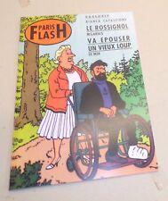 TINTIN JOURNAL LE PARIS FLASH PARODIE 30X20