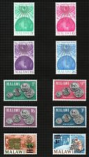 "Malawi 1964 ""Christmas"" sg228/31, 1965 ""1st Coinage"" sg232/5 & 2 others sg236/7."