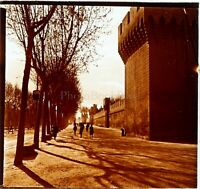 FRANCE Avignon Remparts Photo Stereo Vintage Plaque Verre VR3L12n1