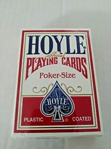 NEW SEALED Hoyle Poker-Size Playing Cards No. 1201 - Red Shell Back