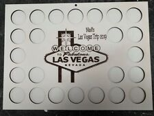 More details for personalised las vegas nevada poker chip display frame for casino holds 24 chips