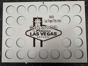 personalised Las Vegas Nevada Poker Chip Display Frame for casino holds 24 chips