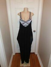 67de7e7cc4c Love Stitch Black & White Crinkle Maxi Dress S/M ONLY