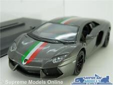 LAMORGHINI AVENTADOR LP700 MODEL CAR 1:38 SCALE GREY + CASE SPORTS KINSMART K8
