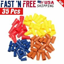 35 Pcs Electrical Wire Connectors Screw-On Twist Terminal 22-10 Awg Assortment