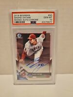 2018 Bowman Chrome Shohei Ohtani ROOKIE RC AUTO #SO PSA 10 GEM MINT