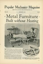 1933 Metal Tube Furniture Built Without Heating Art Deco Design Interior
