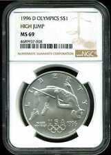 1996-D $1 Olympics High Jump Commemorative Silver Dollar MS69 NGC 4689937-008