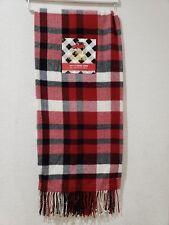 BUFFALO CHECK RED BLACK WHITE CHRISTMAS FARMHOUSE ACRLYIC THROW BLANKET 50x60