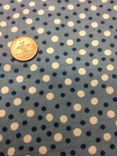 100% Cotton quilting craft Fabric Blue White Spots Benartex kayes kitchen
