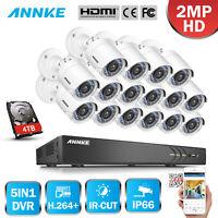 ANNKE 3MP 5IN1 16CH DVR CCTV 3000TVL IR Outdoor Security 1080P Camera System APP